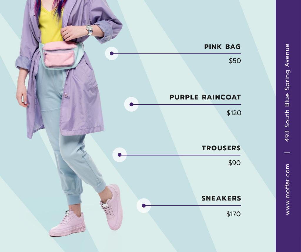 Fashion Ad Stylish Girl Wearing Raincoat — Modelo de projeto