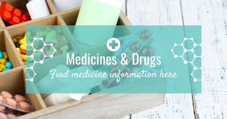 Medicine information with medicines Facebook AD Modelo de Design