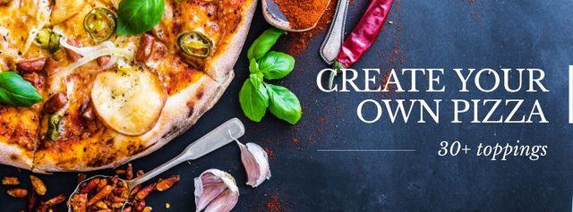 Modèle de visuel Offer to Create your own Pizza - Facebook cover