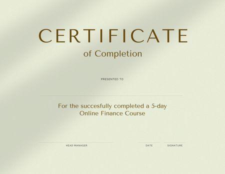 Ontwerpsjabloon van Certificate van Design template by Crello