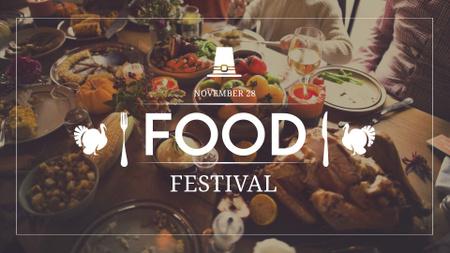 Thanksgiving Food Festival Announcement FB event cover – шаблон для дизайна