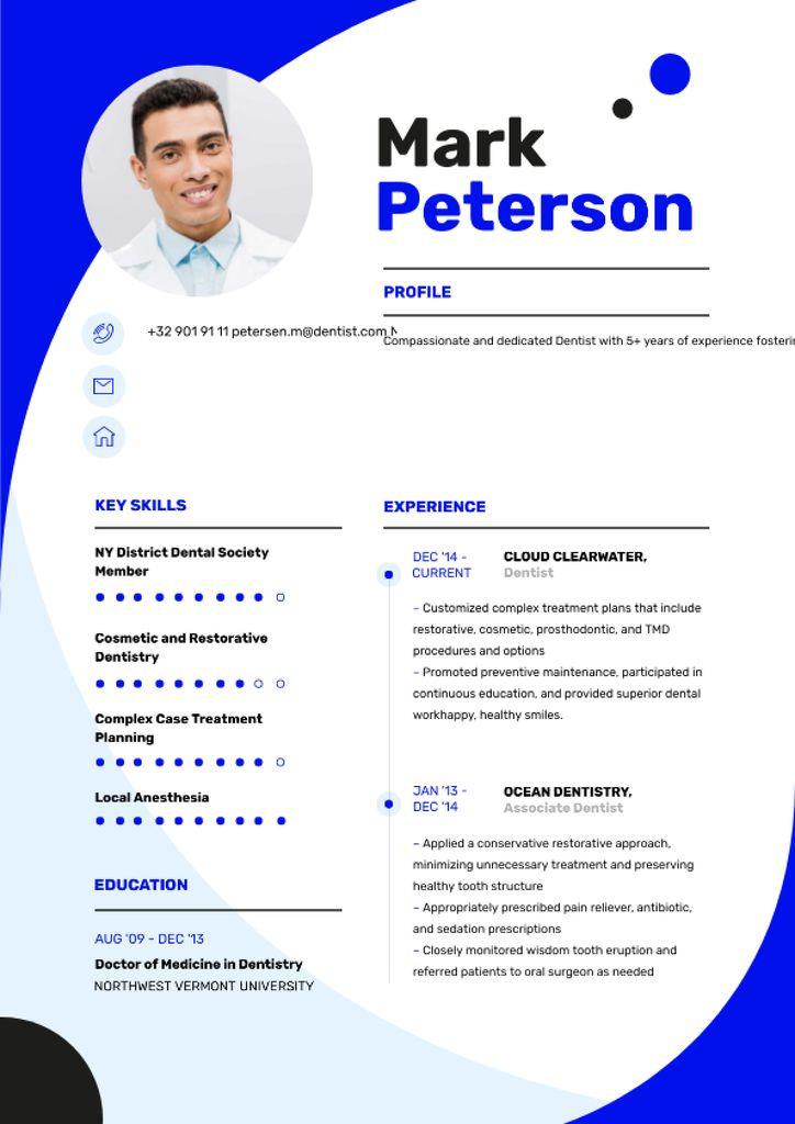 Medical skills and experience Resume Modelo de Design
