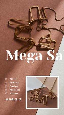 Ontwerpsjabloon van Instagram Story van Jewelry Sale Shiny Chain Necklace