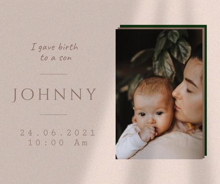 Modèle de visuel Baby Birthday Celebration Announcement - Facebook