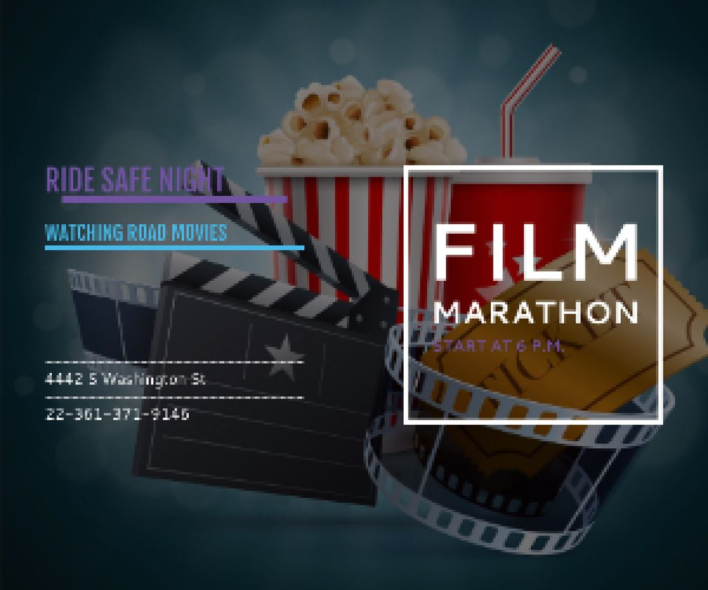 Film marathon night — Crea un design