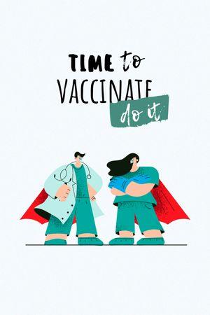 Vaccination Announcement with Doctors in Superhero's Cloaks Tumblr tervezősablon