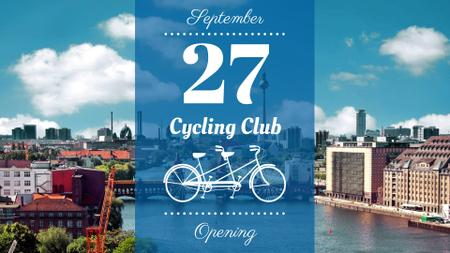 Cycling club opening announcement FB event cover – шаблон для дизайна