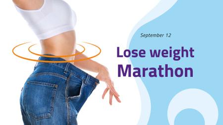 Template di design Lose Weight Marathon Announcement FB event cover