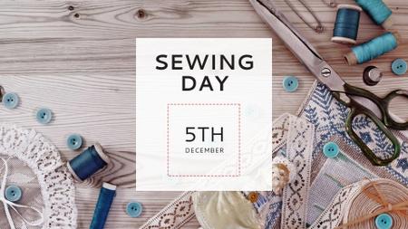 Plantilla de diseño de Tools for Sewing on Table FB event cover