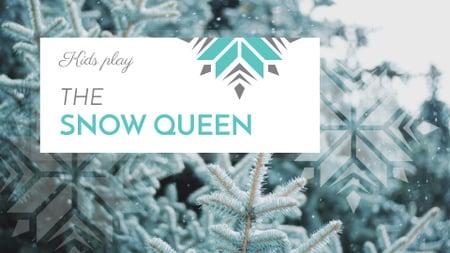 Modèle de visuel Winter Event Announcement with Snowy Branches - FB event cover