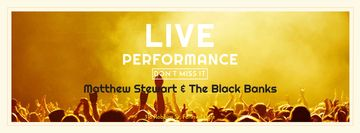 Live performance Announcement with Crowd on Concert