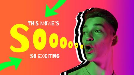 Modèle de visuel Blog Promotion with Funny Young Guy - Youtube Thumbnail