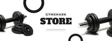 Gym Equipment Store Offer with Dumbbells