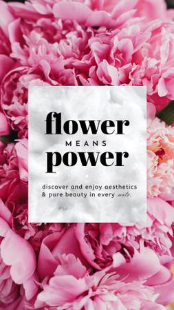 Tender Bright Pink Flowers Instagram Story Design Template