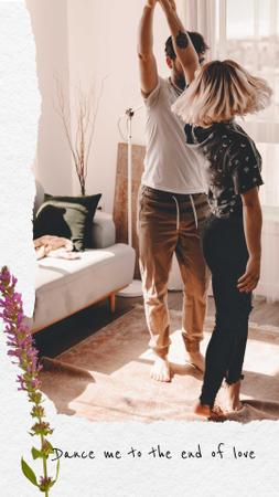 Template di design Loving Couple dancing at Home Instagram Story