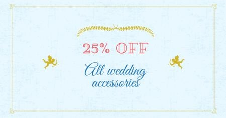 Wedding Accessories Offer with Cupids Facebook AD – шаблон для дизайна