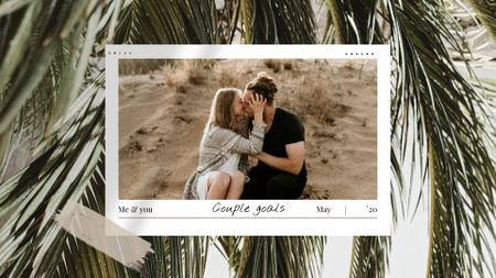 Ontwerpsjabloon van Full HD video van Happy Couple kissing on Sand
