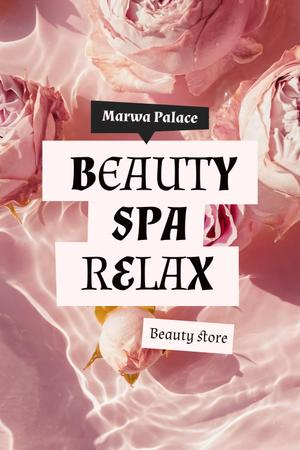 Spa Services Offer with Tender Flowers in Water Pinterest Modelo de Design