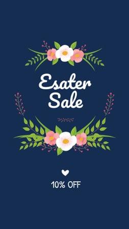 Easter Discount Offer with Tender Flowers Instagram Story – шаблон для дизайну
