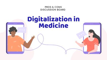 Designvorlage Online Medical Support concept für FB event cover