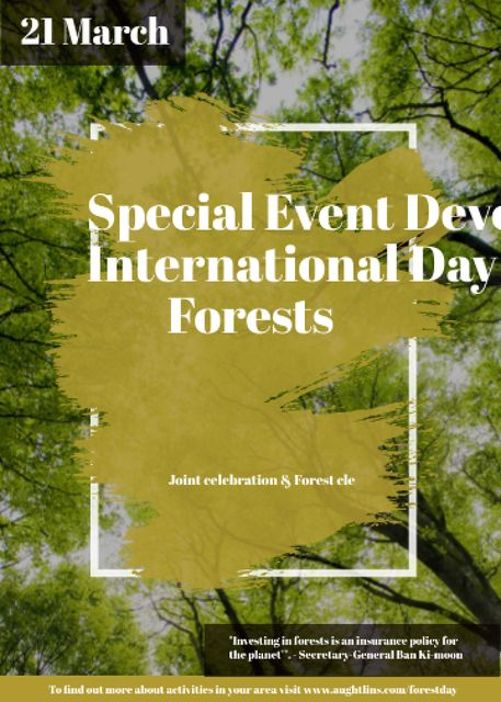 Template di design International Day of Forests Event Tall Trees Invitation