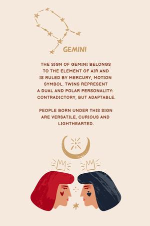 Modèle de visuel Astrological sign explanation with Two Women - Pinterest