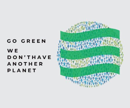 Citation about green planet Large Rectangle – шаблон для дизайну