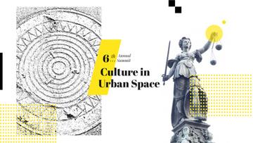 Themis sculpture in city