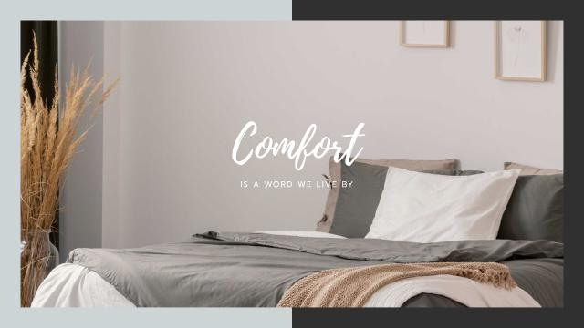 Comfortable Bedroom in grey colors Youtube Modelo de Design