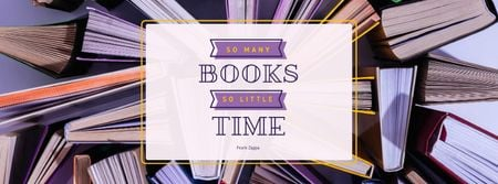 Book Store Promotion Books in Purple Facebook Video cover Modelo de Design