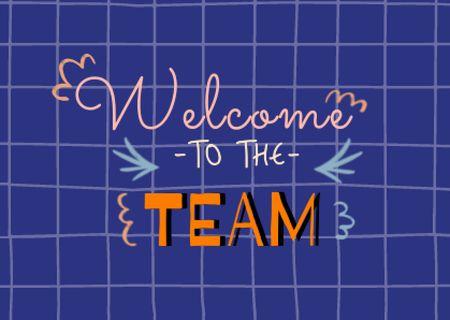 Template di design Cute Welcome Phrase on Grid Pattern Card