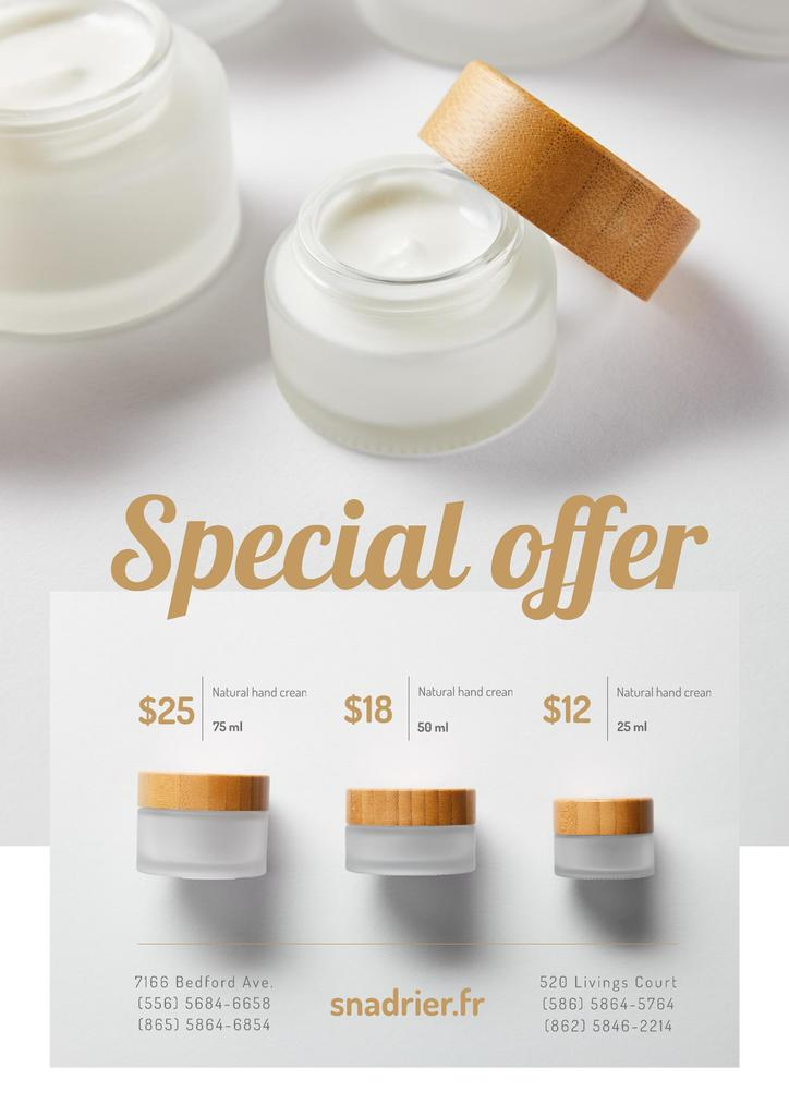 Natural hand Cream Offer in White —デザインを作成する