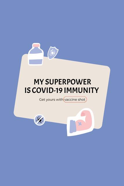Szablon projektu Virus Vaccination Ad with Vaccine Bottle Pinterest