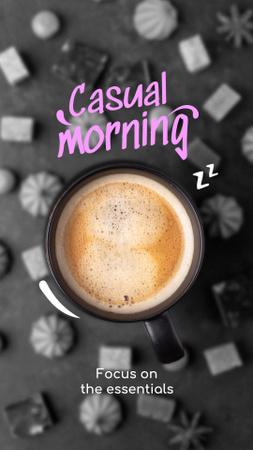 Platilla de diseño Funny Joke with Cup of Coffee Instagram Story