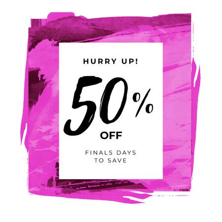 Designvorlage Sale ad on Pink Smudges für Instagram