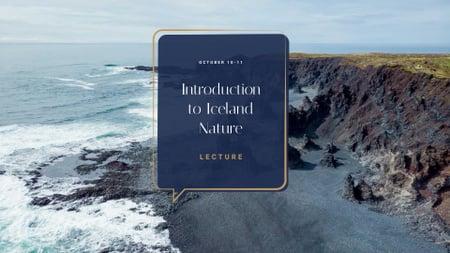 Template di design Travel Lecture announcement on Rocky Coast View FB event cover