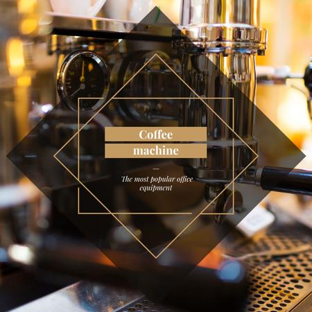 Coffee Machine Offer in cafe Instagram AD Modelo de Design