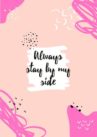 Motivational Quote on pink Poster Modelo de Design