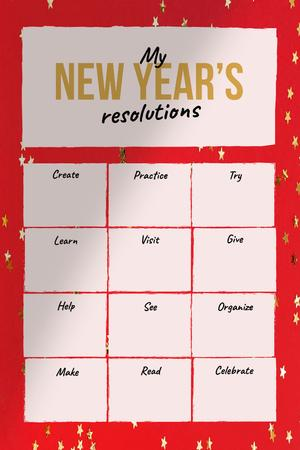 Plantilla de diseño de New Year's inspirational Resolutions Pinterest