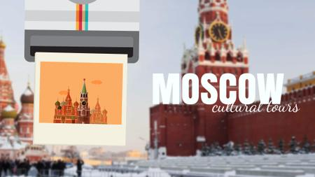 Modèle de visuel Tour Invitation with Moscow Red Square - Full HD video