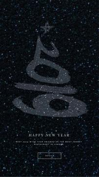 New Year Shining Glitter Greeting