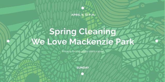 Spring cleaning Announcement Twitterデザインテンプレート