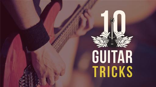 Guitar Tricks Ad Man Playing Guitar