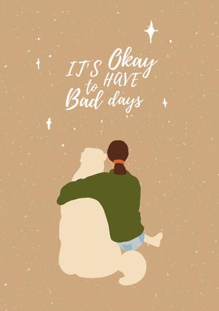 Inspirational illustration about Mental Health Poster Design Template