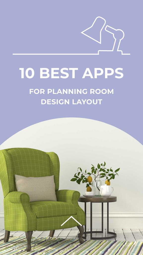 Apps for planning room design with Cozy Armchair Instagram Story – шаблон для дизайна