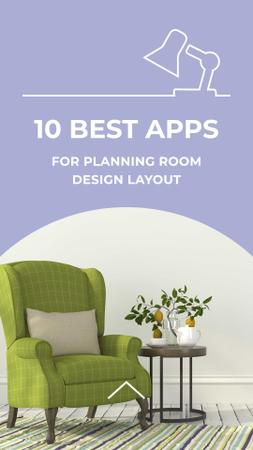 Apps for planning room design with Cozy Armchair Instagram Story – шаблон для дизайну