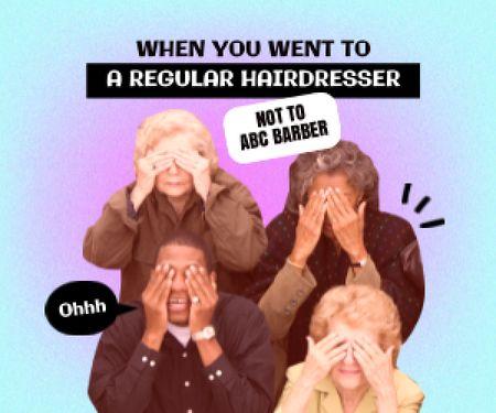 Szablon projektu Joke about visiting Hairdresser Medium Rectangle