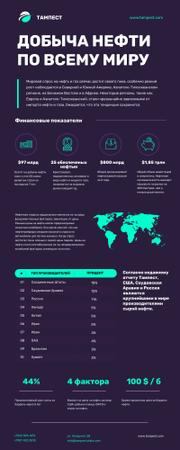 Statistical infographics about Oil Production Infographic – шаблон для дизайна