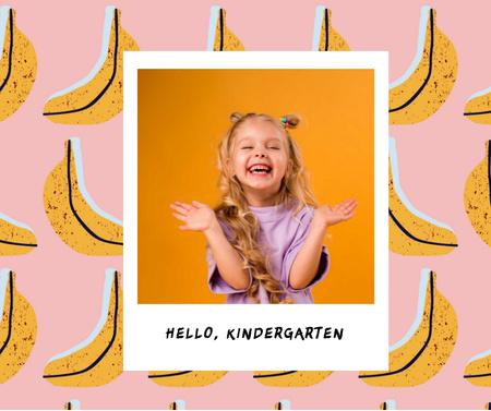 Cute Smiling Little Girl Facebook Design Template