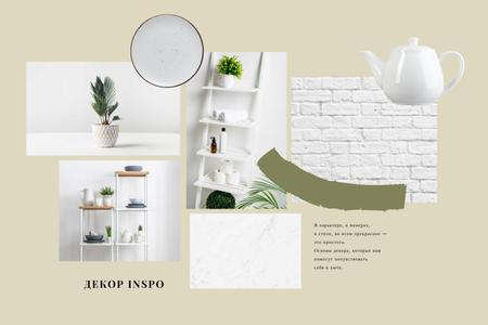 Home Decor inspiration in white Mood Board – шаблон для дизайна